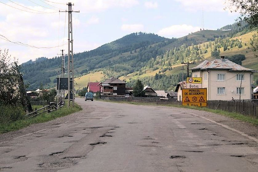 romanian rural roads