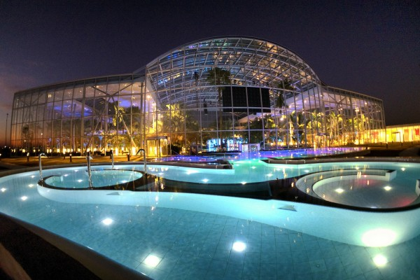 Relax in the indoor pools at Therme Bucharest